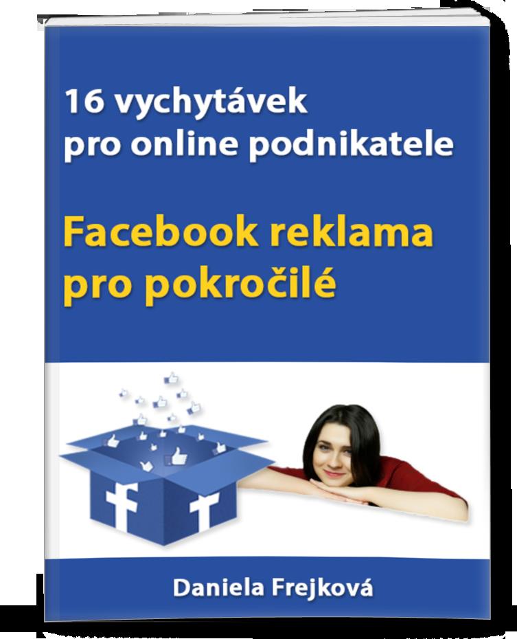 e-book o reklamě na Facebooku a dalších typech pro online podnikatele