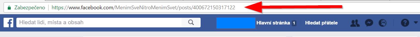 Trvalá webová adresa Facebook příspěvku